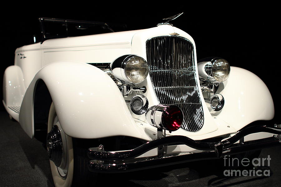 The White Duesenberg Photograph  - The White Duesenberg Fine Art Print