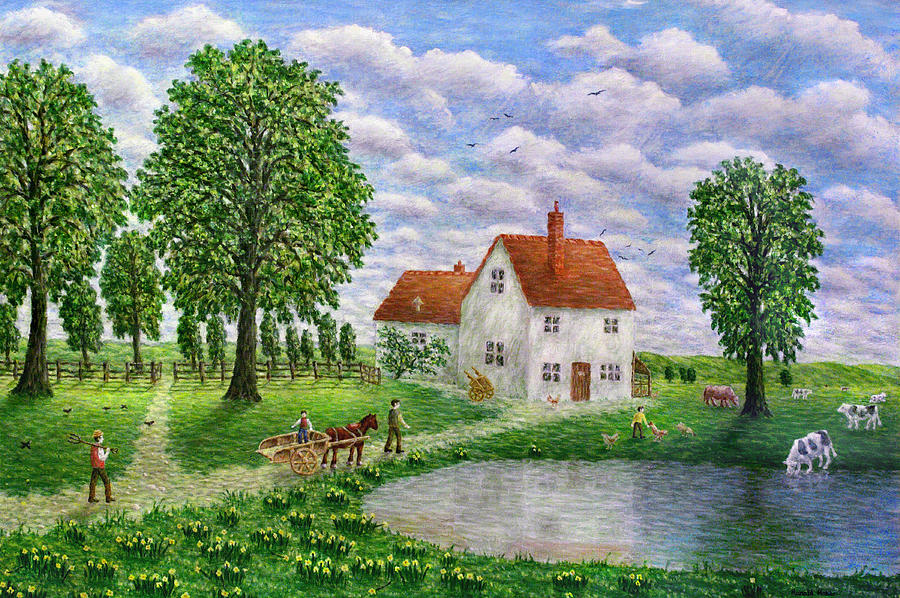 The White Farm Painting  - The White Farm Fine Art Print