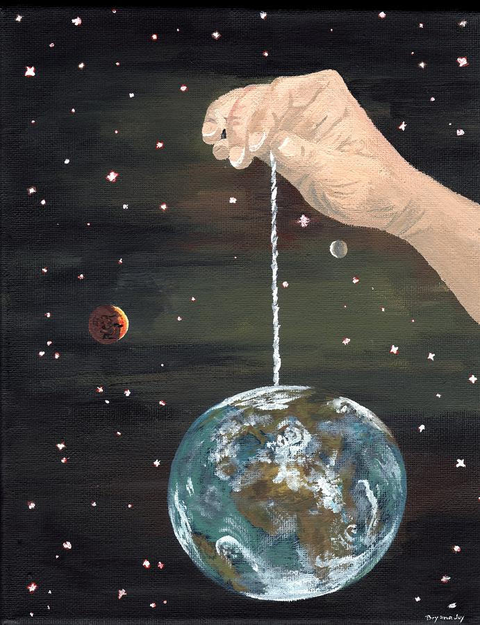 The Whole World  Painting  - The Whole World  Fine Art Print