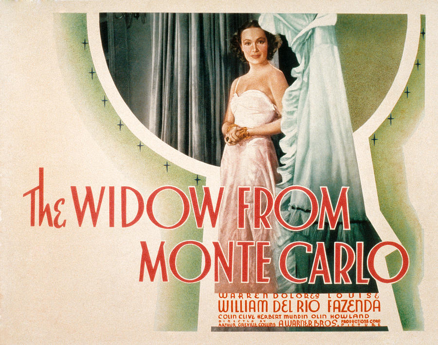 The Widow From Monte Carlo, Dolores Del Photograph  - The Widow From Monte Carlo, Dolores Del Fine Art Print