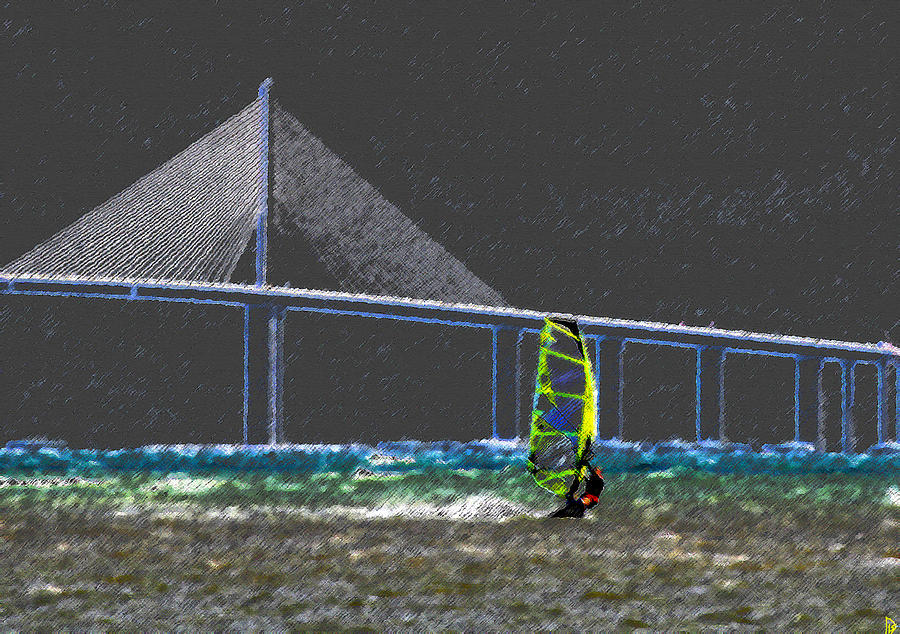 The Wind Surfer Painting