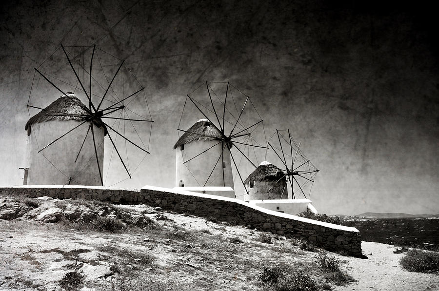The Windmills Of Mykonos 2 Photograph  - The Windmills Of Mykonos 2 Fine Art Print