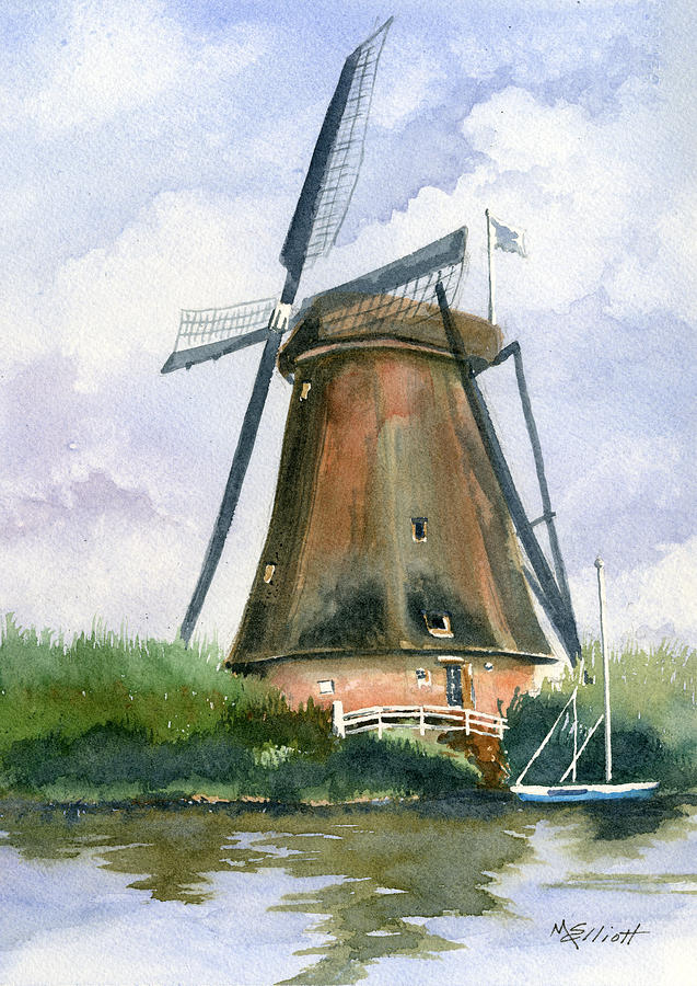 The Windmills Of Your Mind Painting  - The Windmills Of Your Mind Fine Art Print