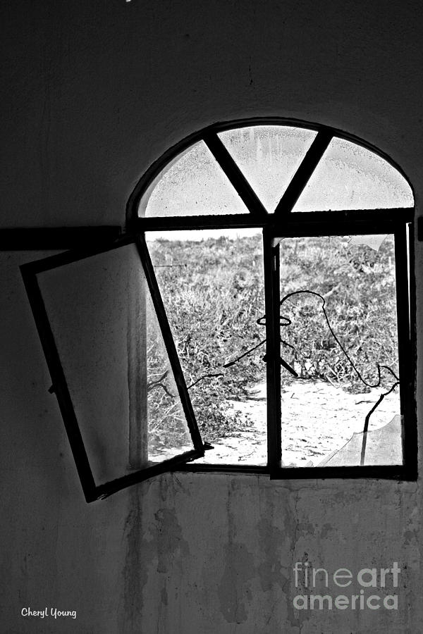 Broken Window Photograph - The Window by Cheryl Young