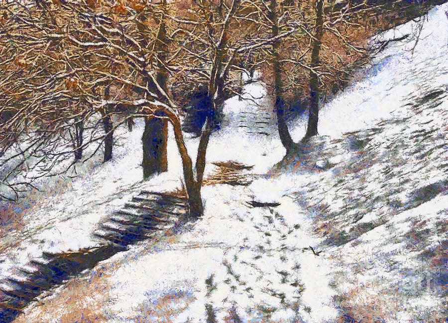 The Winter Park Painting  - The Winter Park Fine Art Print