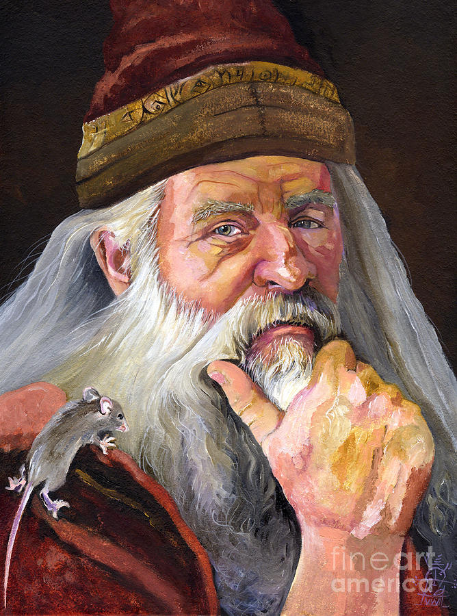 The Wise Wizard Painting  - The Wise Wizard Fine Art Print
