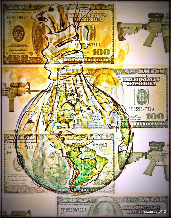The World Is Money Digital Art  - The World Is Money Fine Art Print