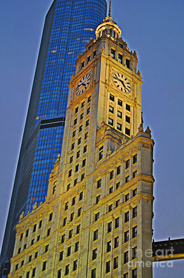 Wrigley Building Photograph - The Wrigley Building by Mary Machare