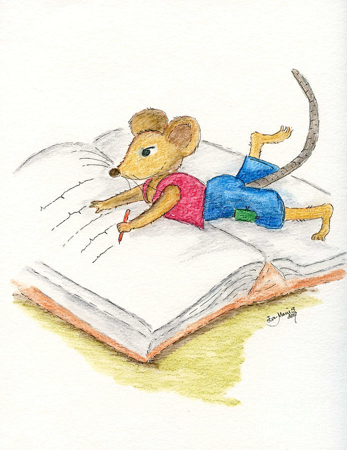 The Writing Mouse Painting