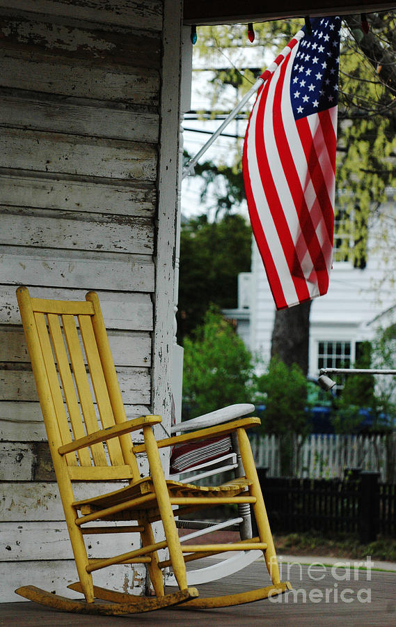 The Yellow Rocking Chair Photograph  - The Yellow Rocking Chair Fine Art Print