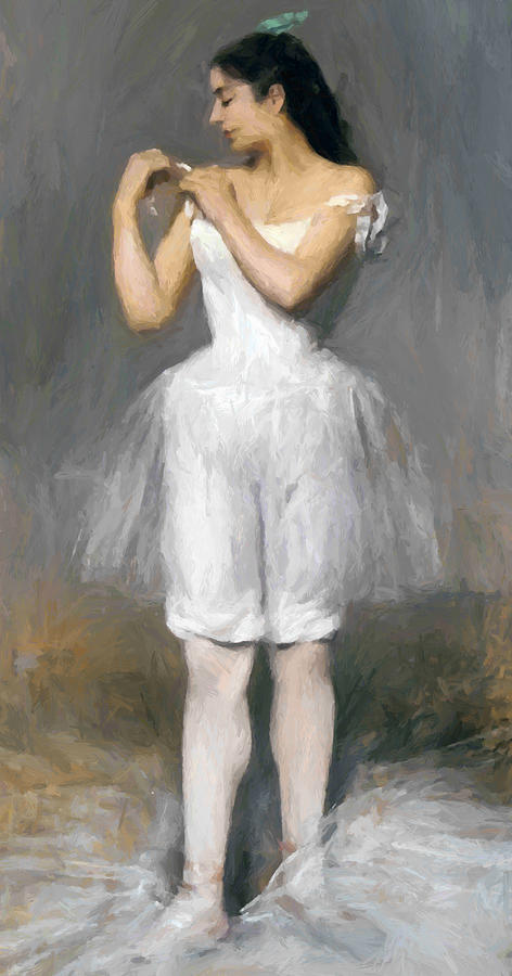 The Young Ballerina Painting  - The Young Ballerina Fine Art Print