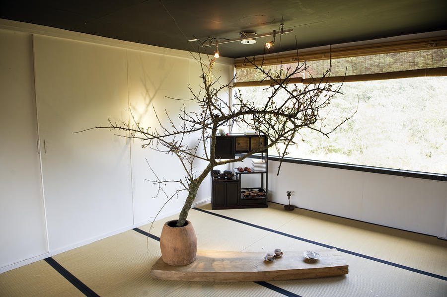 The Zen Like Interior Of A Tea House Photograph By Justin