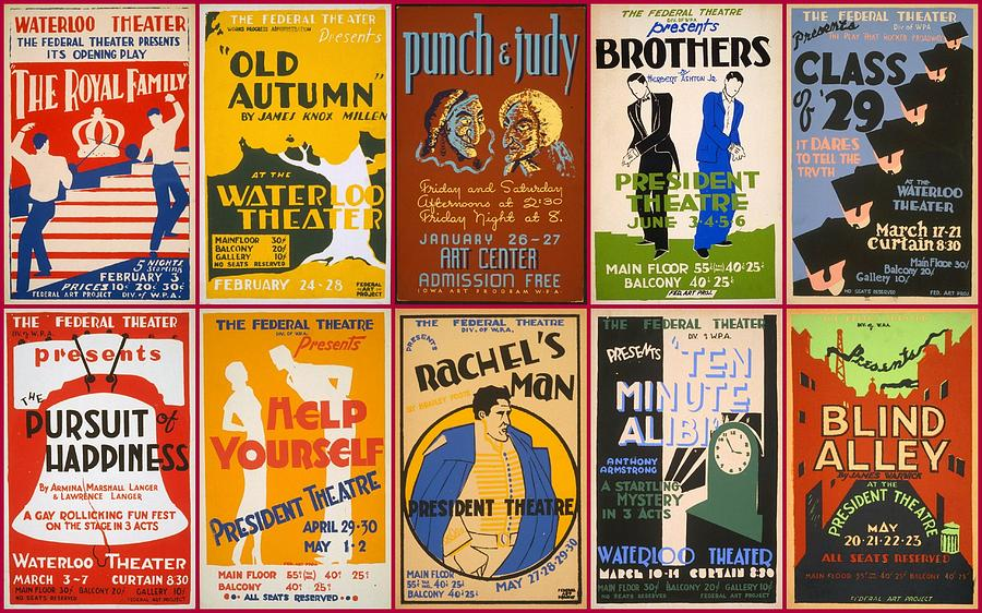 Theatre Posters Of The 1930s And 1940s Photograph  - Theatre Posters Of The 1930s And 1940s Fine Art Print
