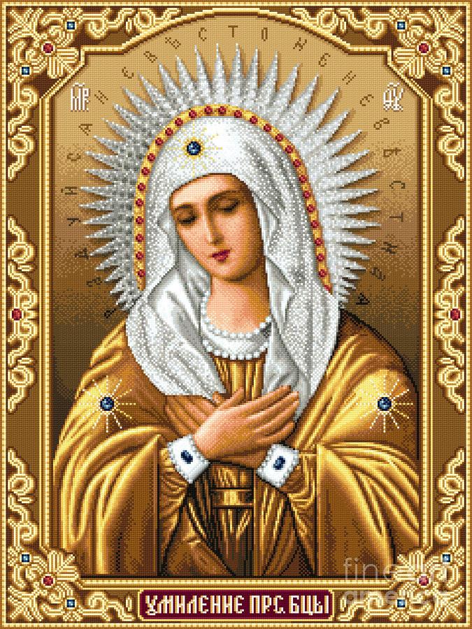 Схемы вышивки иконы матерь божья