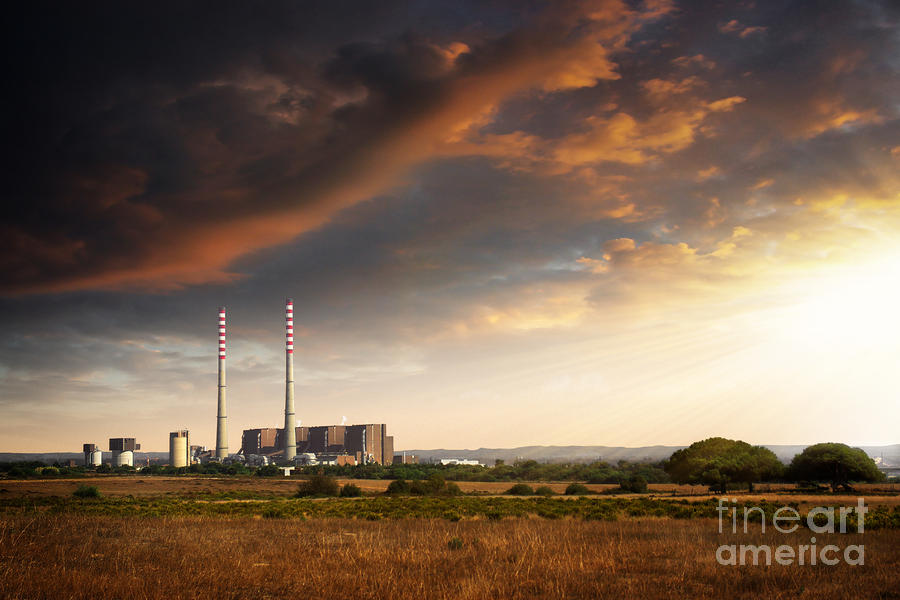 Thermoelectrical Plant Photograph  - Thermoelectrical Plant Fine Art Print