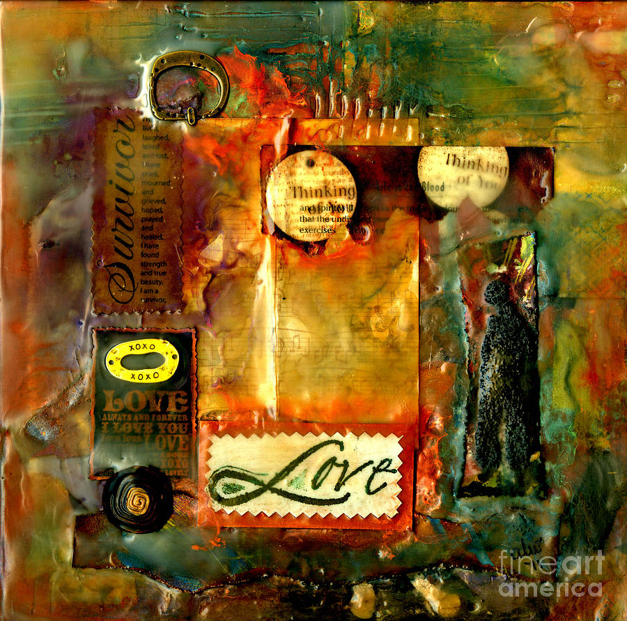 Thinking Of You With Love Mixed Media  - Thinking Of You With Love Fine Art Print
