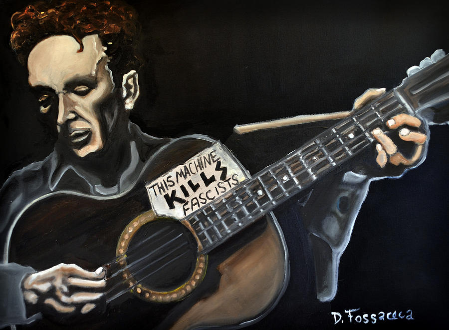 This Machine Kills Fascists Painting