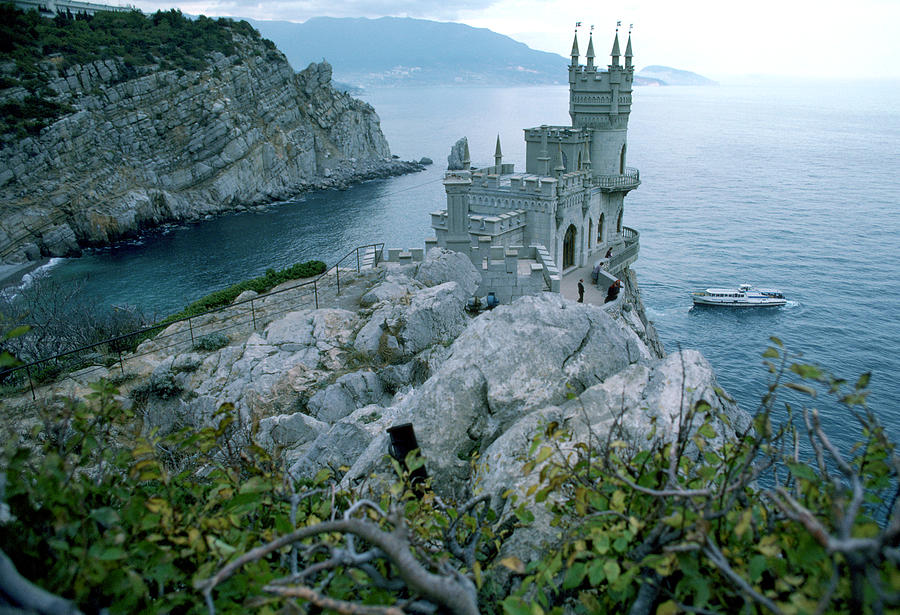 This Neo-gothic Castle Overlooks Photograph
