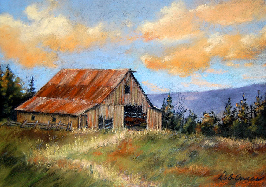 This old barn by deb owens lowe for Watercolor barn paintings