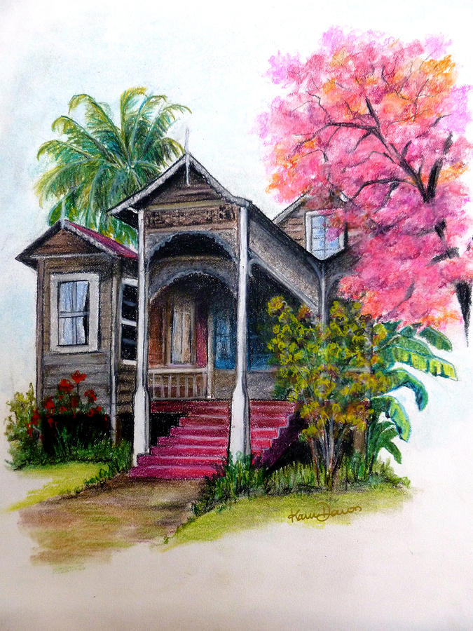 This Old House  Pastel  - This Old House  Fine Art Print