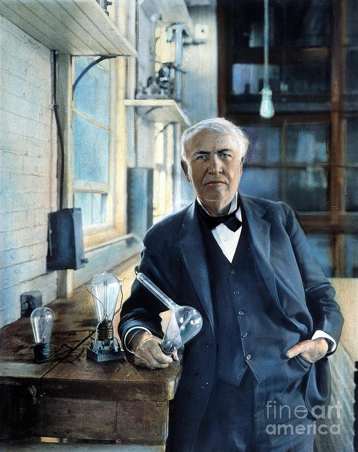Thomas Edison Photograph  - Thomas Edison Fine Art Print