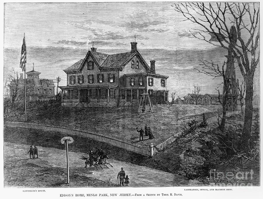 1880 Photograph - Thomas Edison Residence by Granger