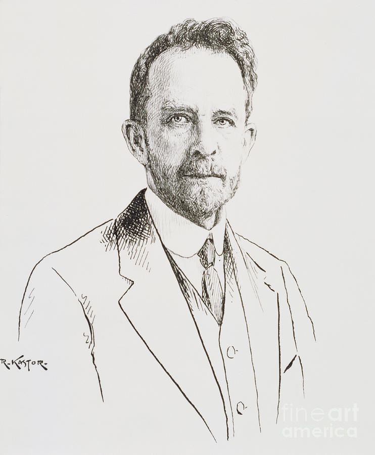 Thomas Hunt Morgan, American Geneticist Photograph  - Thomas Hunt Morgan, American Geneticist Fine Art Print