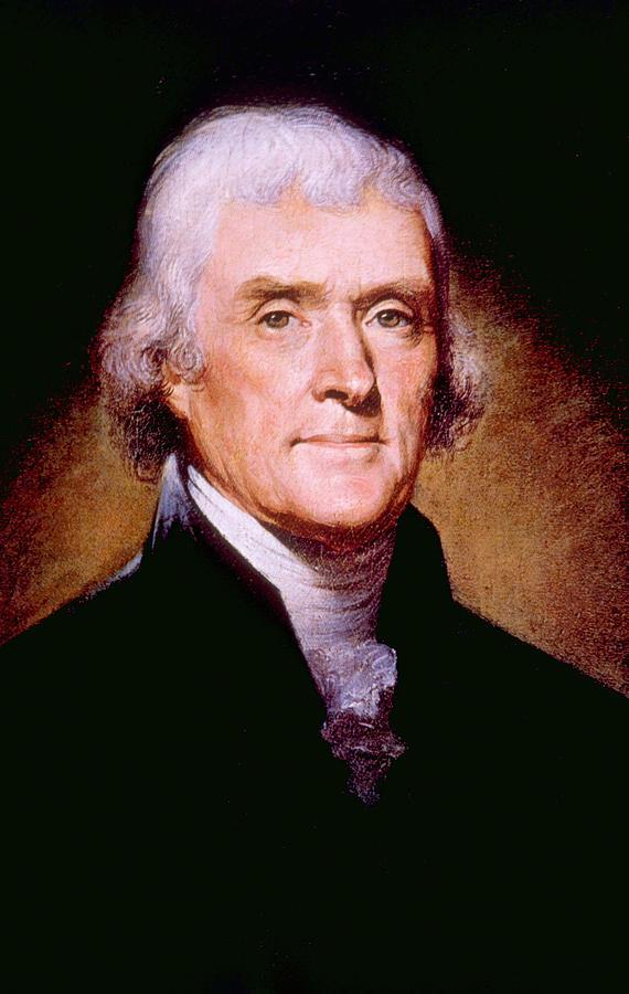 Thomas Jefferson 1743-1826, U.s Photograph