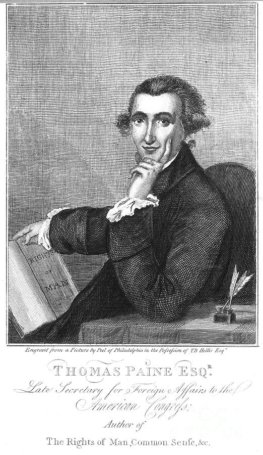 Thomas Paine (1737-1809) Photograph  - Thomas Paine (1737-1809) Fine Art Print