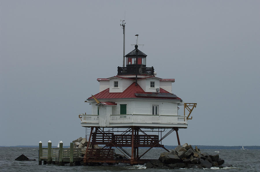Thomas Point Shoal Lighthouse Photograph