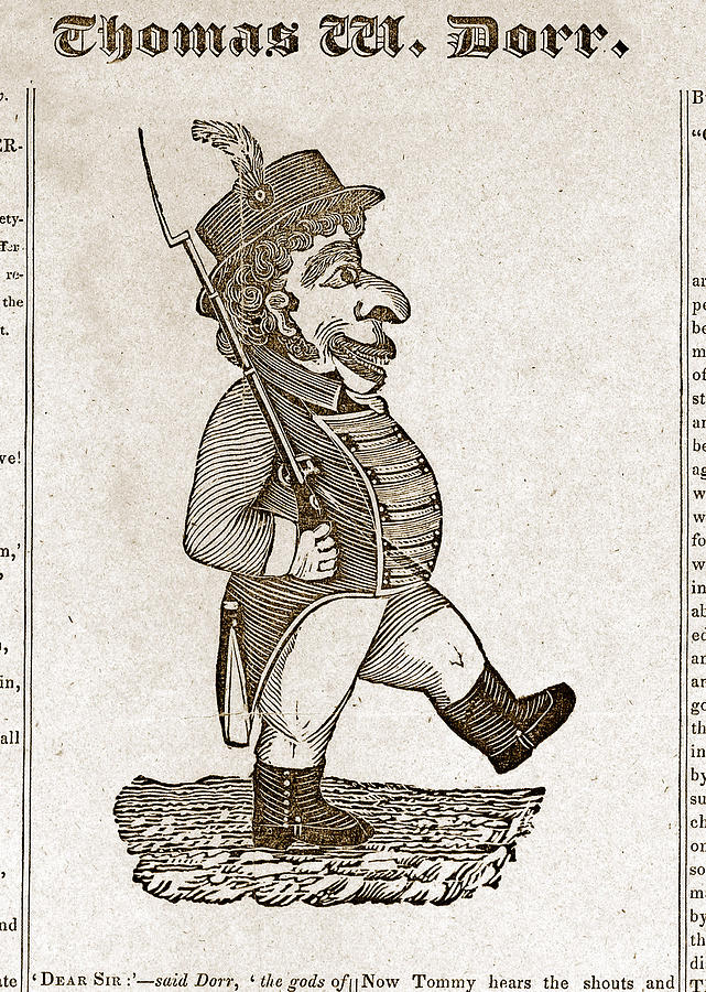 Thomas Wilson Dorr. Caricature Of Dorr Photograph