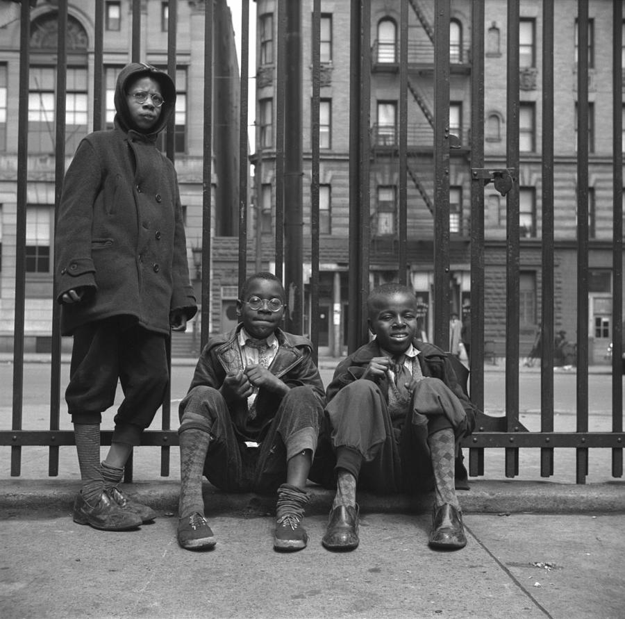 Three African American Boys In Harlem Photograph