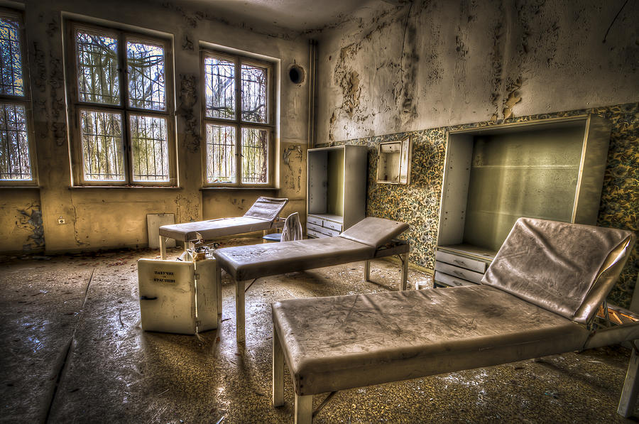 Three Beds Horror Photograph  - Three Beds Horror Fine Art Print