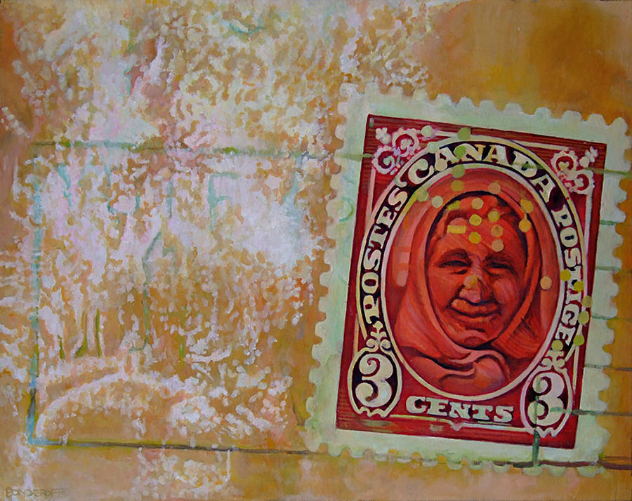Three-cent Baba Painting  - Three-cent Baba Fine Art Print