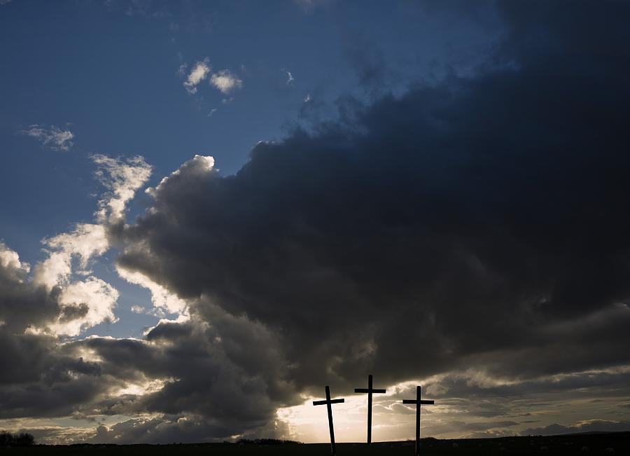 Atmospheric Photograph - Three Crosses, West Yorkshire, England by John Short