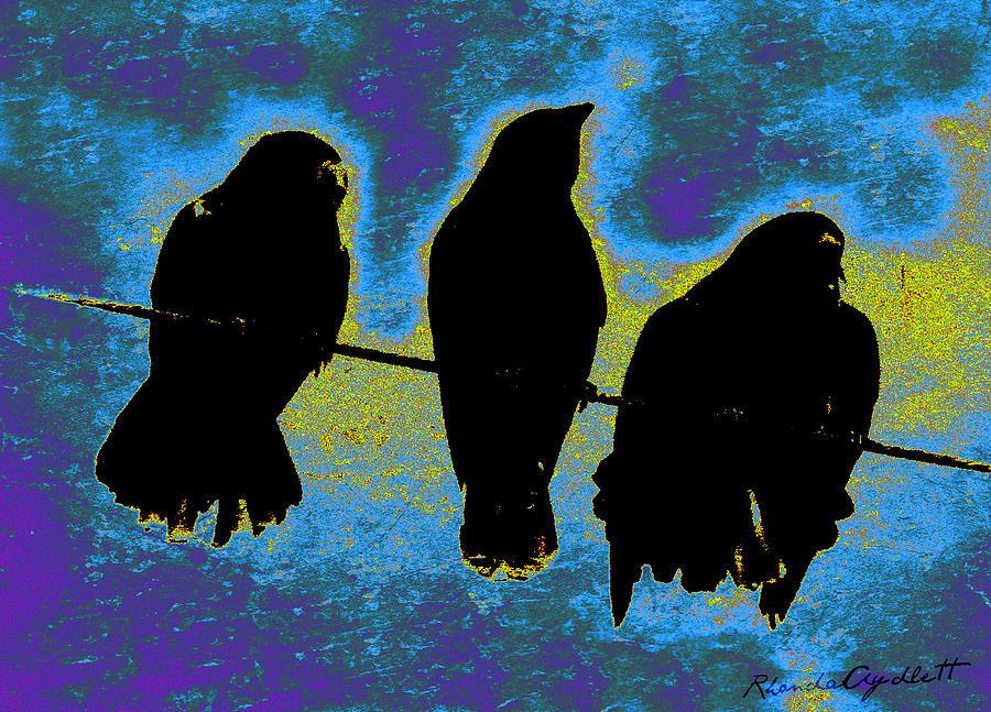 Three Crows Mixed Media