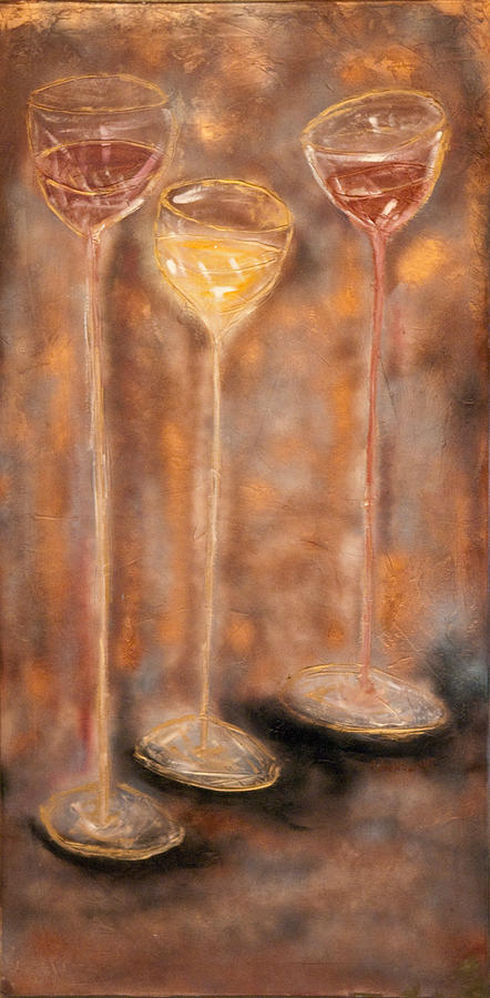 Three Glasses Of Wine Painting