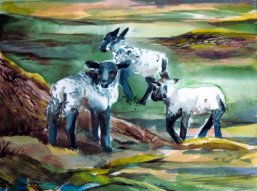 Three Lambs Painting