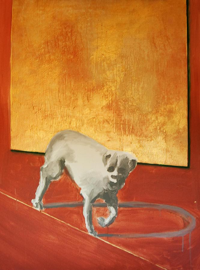 Animals Painting - Three Legged Dog by Jea DeVoe