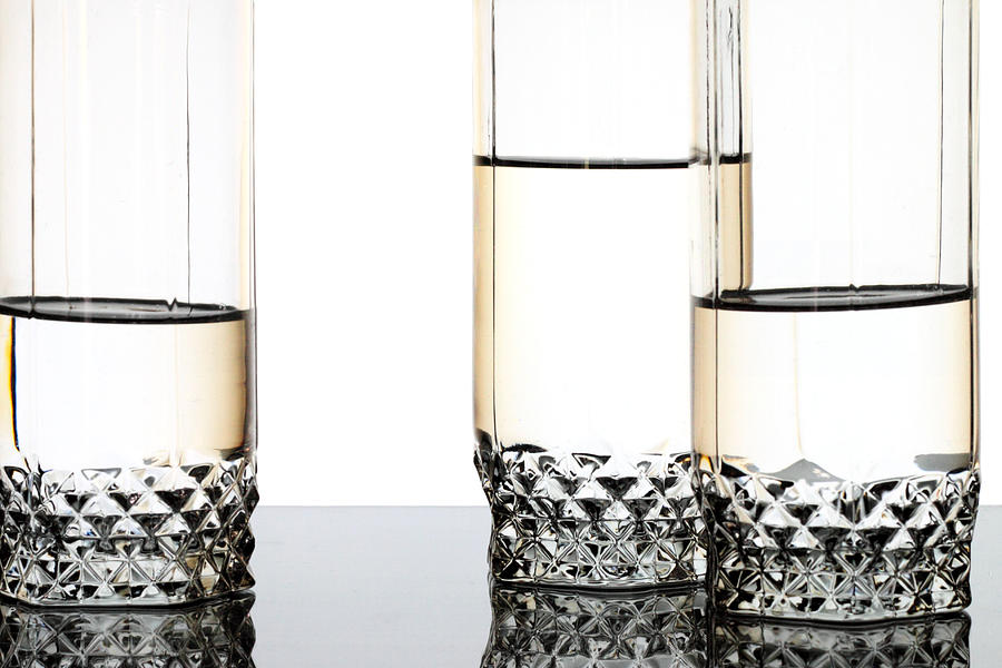 Three Luxury Glasses Photograph
