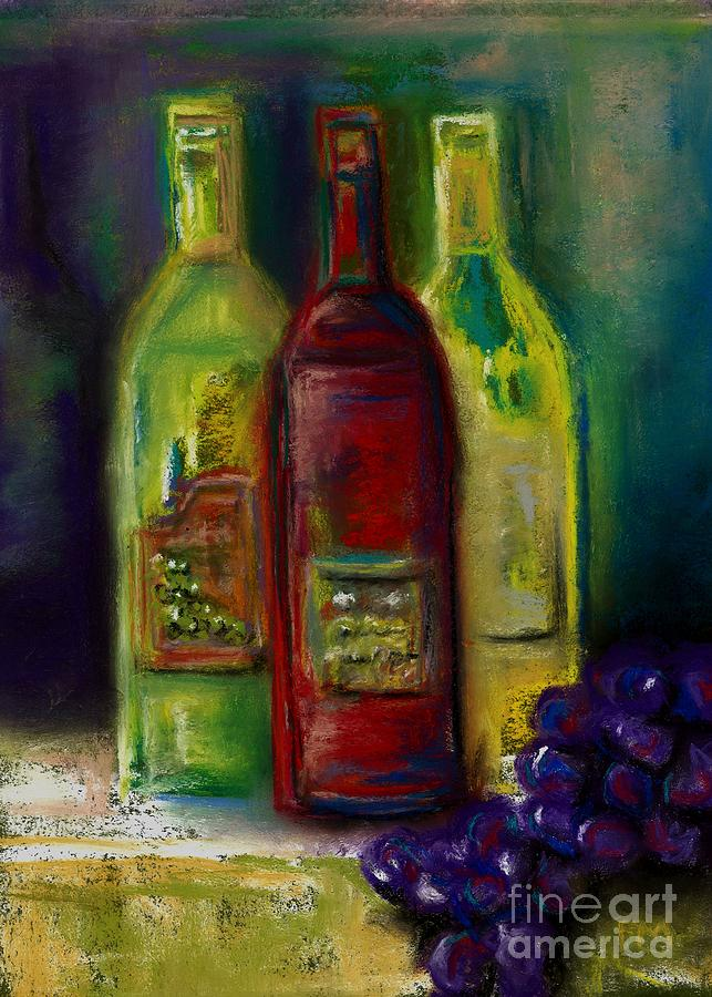 Three More Bottles Of Wine Painting  - Three More Bottles Of Wine Fine Art Print