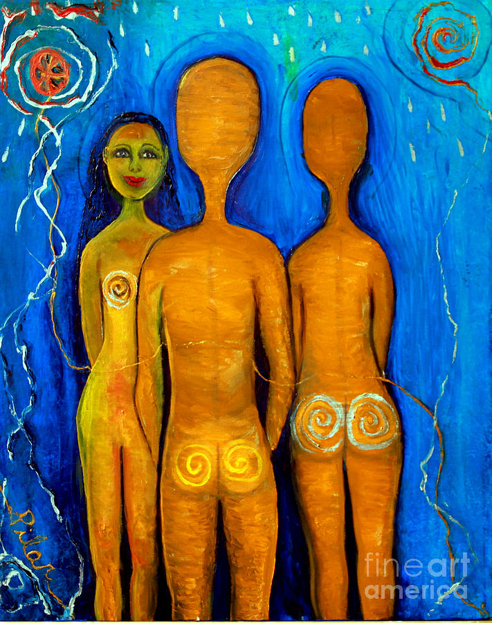 Three People Painting