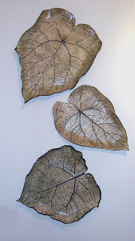 Three Piece Leaf Arrangement Sculpture
