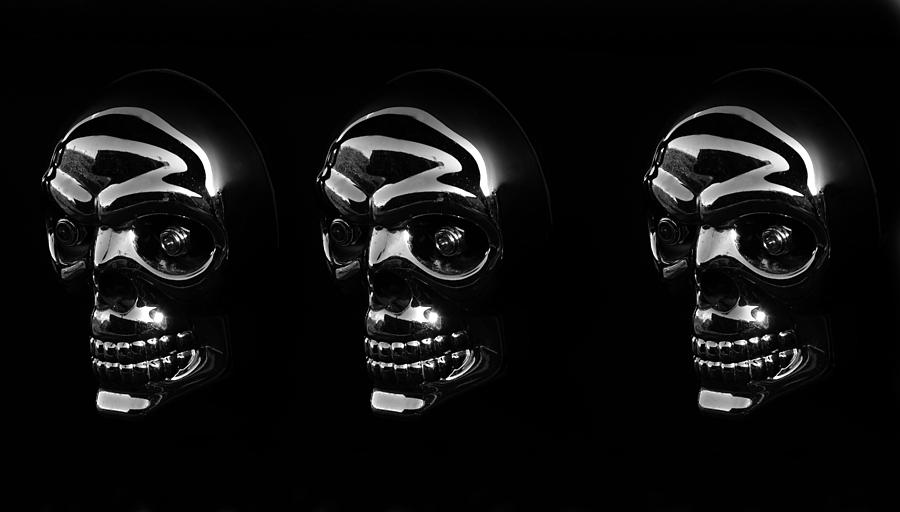Three Skulls Photograph  - Three Skulls Fine Art Print