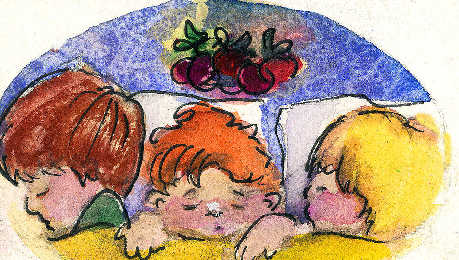 Three Sugar Plum Dreamers Painting  - Three Sugar Plum Dreamers Fine Art Print