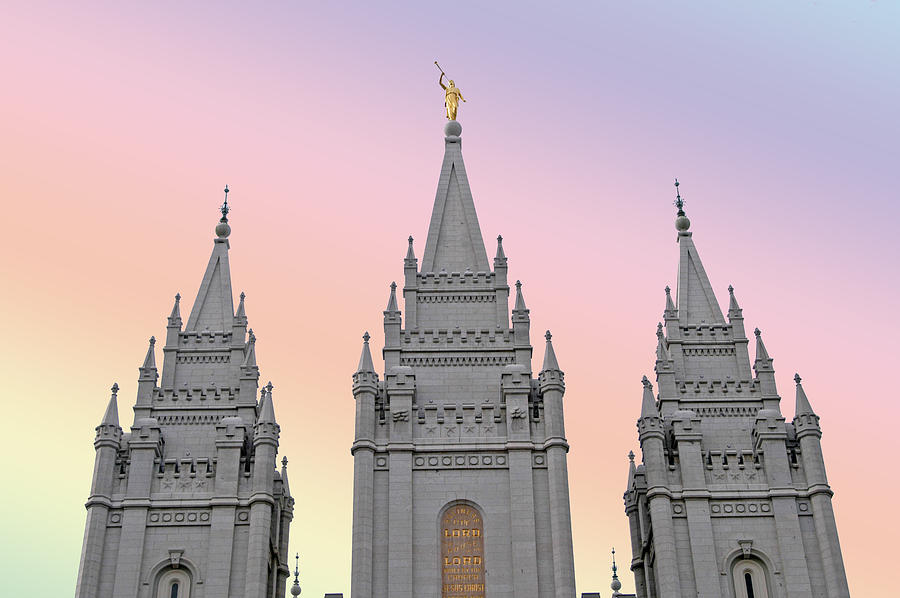Three Tower Salt Lake City Photograph  - Three Tower Salt Lake City Fine Art Print
