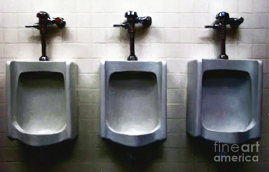 Three Urinals Photograph  - Three Urinals Fine Art Print