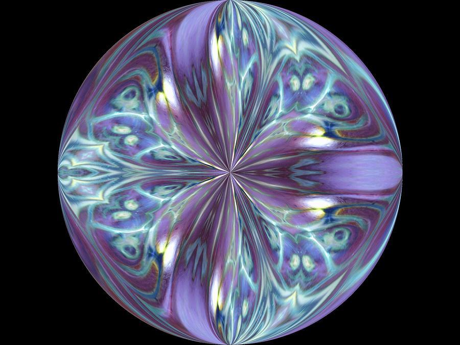 Three Violet Petals Photograph