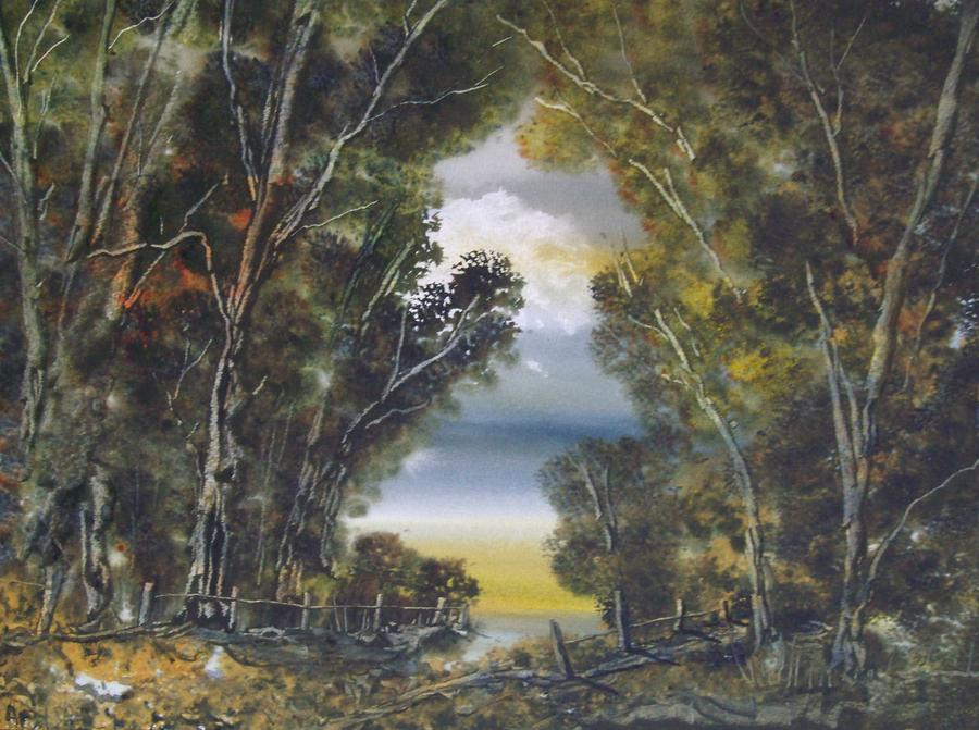 Through The Woods Painting