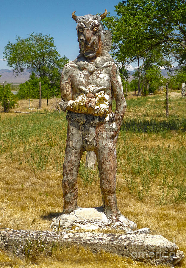 Thunder Mountain Indian Monument - Demon Photograph